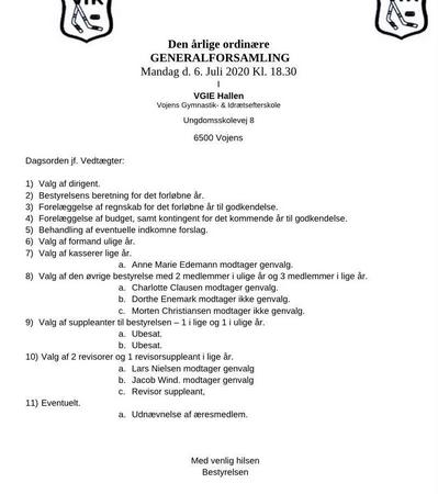 Generalforsamling 2020 VIK DAGSORDEN