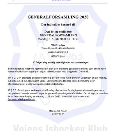 VIK Generalforsamling 2020